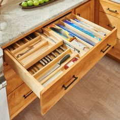 Rev A shelf inches. H x 33 inches. D Double-decker cutlery drawer with soft-close slides, untreated wood Rev-A-Shelf in. H x 33 in. D Double Tiered Cutlery Drawer with Soft-Close - The Home Depot,