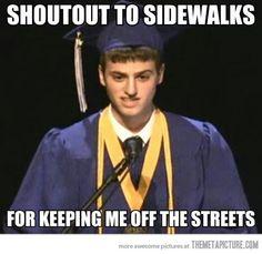 Graduation speech…