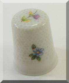 Sizzlin Summer Sale Vintage Thimble Limoges France WGPH Franklin Mint