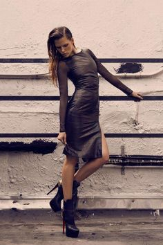 Industrial Rooftop Editorials : Fashion Magazine 'Skin Test' Editorial
