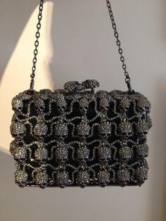 jeweled skull purse