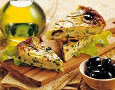Frittata di zucchine al caprino e olive nere