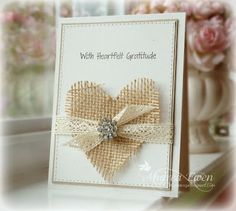 Burlap heart & lace ribbon- gorgeous! http://www.ewenstyle.com/2012/09/case-studywith-heartfelt-gratitude.html