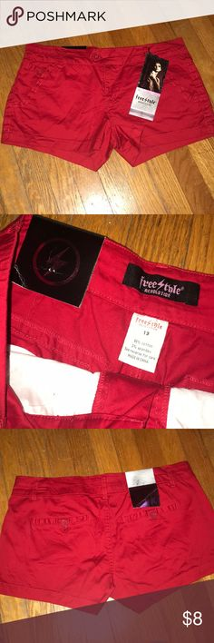 NWT red shorts Size 13 red shorts. Brand new. Bought then lost a lot of weight so they do not fit me. Freestyle Shorts