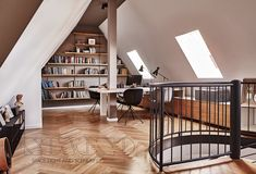 18 Brilliant Scandinavian interior for the home office you would like to work in … - Arbeitszimmer Bookshelf Design, Bookshelves, Home Office, Interior Architecture, Interior Design, Design Küchen, Office Interiors, Interior Office, Scandinavian Interior