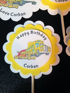 Magic School Bus Party Treat Bags cupcake by Hardtofindparty