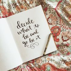 ANY QUOTE 8x10 Original Hand Lettered Illustration by BySamantha