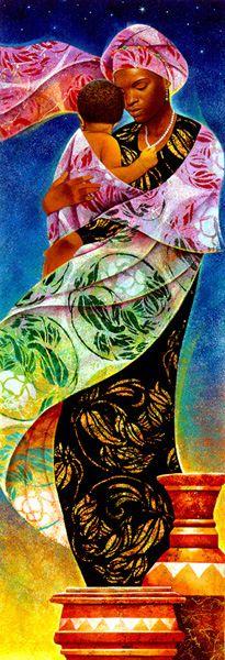 "Gorgeous art. This piece is called ""Usiku, Night."" Usiku means night in Kiswahili."