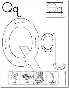 Q is a great week to make one of these Mini Books from First School ! I'm posting this now because they're available for every letter. They... Preschool Letters, Preschool Education, Preschool Learning Activities, Preschool Printables, Learning Letters, Alphabet Activities, Preschool Worksheets, Letter Q Crafts, Letter Q Worksheets