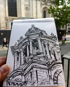 St Paul. Drawing Board, Life Drawing, Drawing Sketches, Drawings, Building Sketch, Urban Park, Bismuth, Hand Sketch, Architecture Portfolio