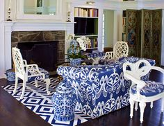 Quadrille San Michele banquette by Bruce Shostak in House Beautiful