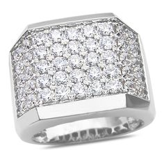 Ebay NissoniJewelry presents - Men's 3 1/2CT Diamond Fashion Ring in 14k White Gold with a Cage Back    Model Number:GR9634RH-W477    http://www.ebay.com/itm/Men-s-3-1-2CT-Diamond-Fashion-Ring-in-14k-White-Gold-with-a-Cage-Back/321612090612