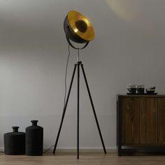 Luminaire Sur Rail, Spot Luminaire, Luminaire Led, Lampe Led, Floor Standing Lamps, Floor Lamp, Tripod Lamp, Black Gold, Black