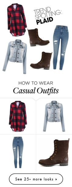 """Casual Denim and Plaid"" by manxy on Polyvore featuring River Island, contestentry and NYFWPlaid"