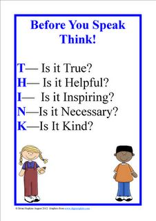 FREEBIE Think Poster and bullying tips and stories!