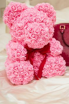 Romantic Pe Handmade Love Bear Doll Toy 2019 Wedding Party Valentines Day Rose Flowers Gift Toy Father To Mother Love Art Gifts Buy One Give One Arts & Crafts, Diy Toys