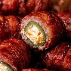 Bacon Wrapped Armadillo Eggs Pellet Grill Recipes, Grilling Recipes, Grilling Tips, Meat Appetizers, Appetizer Recipes, Armadillo Eggs, Smoked Jalapeno, Roasted Jalapeno, Bbq Seasoning