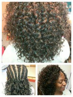 CROCHET BRAIDS. #Freetress GoGo curl pattern. By Hair Splendor Beauty Supply Stylist. #Radford VA Big Curly Hair, Braids For Black Hair, Curly Hair Styles, Pretty Hairstyles, Braided Hairstyles, Natural Braid Styles, Diy Wig, Natural Hair Transitioning, Braids With Extensions