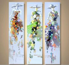 Free shipping, $6.29/Piece:buy wholesale Hand Painted Modern Abstract Oil Painting Figure Art on Canvas for Wall Decoration 3 Panels unframe from DHgate.com,get worldwide delivery and buyer protection service.