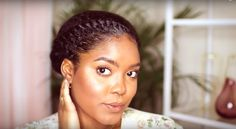 Blogger Mini Marley creates the cutest goddess crown twist hair style. This style requires two large flat twists from the..