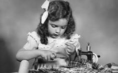 Image result for girl sewing