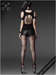 t-306 Spiderella top punk rave | Fantasmagoria.eu - Gothic Fashion boutique