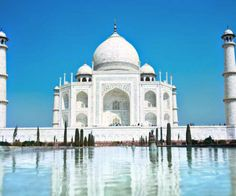 Taj Mahal, India:  CONSTRUCTION DEMANDED A TREMENDOUS AMOUNT OF MANPOWER. - Provided by Mental Floss