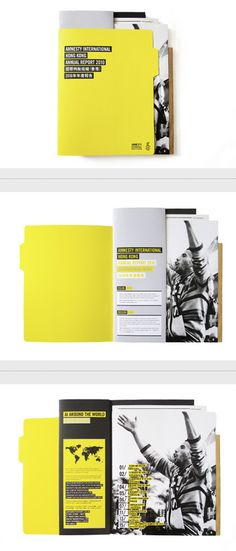 Amnesty International Hong Kong Annual Report 2010 by TGIF , via Behance Corporate Brochure Design, Graphic Design Branding, Editorial Layout, Editorial Design, Visual System, Amnesty International, Annual Reports, Layout Inspiration, Brochures