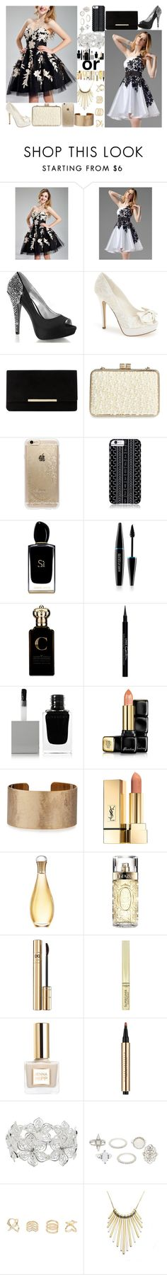 """""""harry dress"""" by biebergirl1013 ❤ liked on Polyvore featuring Menbur, Dune, Sondra Roberts, Rifle Paper Co, Savannah Hayes, Giorgio Armani, MAKE UP FOR EVER, Clive Christian, Givenchy and Guerlain"""