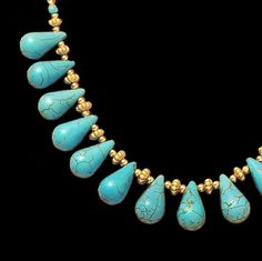 •TURQUOISE HOWLITE TEARDROPS • One Of A Kind • + Free Shipping! • SEE MORE - INSIDE MY 'Art to Wear' GALLERY •