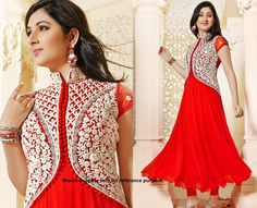 JACKET STYLE RED COLOR DRESS