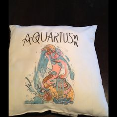 AQUARIUS PILLOW ZODIAC GREAT GIFTS!! ❤️ What to do for holiday gifts? Zodiac pillows!! Any sign, any print.  brand new, 20x20 polyester pillow. One side printed is $20, 2 sides $25. Order now, shipping is fast!❤️ Other