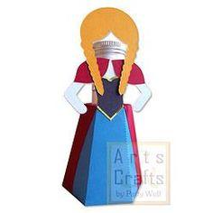 Porta Tubete Anna. Projeto de corte no formato GSD, à venda nos sites: http://www.artscrafts.com.br/ e http://www.cortecrie.com.br/