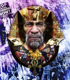 I am going to meet one of the Last Poets Abiodun and i just got inspired to create something.  So this is Abiodun...The Last Pharaoh