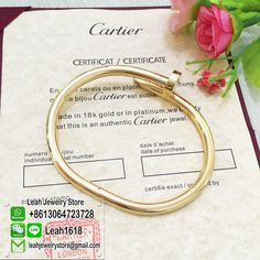 Cartier Nail Bracelet Yellow Gold,Buy 1 Get 1 FREE. http://www.ourcartierstore.cn More pictures please add our WhatsApp +8613064723728 or WeChat Leah1618 The global free shipping!