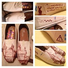 Harry Potter Hogwarts Toms by ArtisticCreations13 on Etsy, $129.99