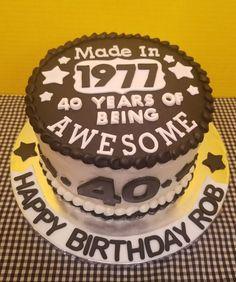 40th Birthday Cake. All buttercream with fondant decorations, #40th #50thBirthdayCake #birthday #buttercream #cake #Decorations #Fondant
