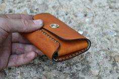 Leder Brieftasche-Herren Geldbörse-Leder-Karte Halter