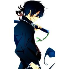 Pinterest ❤ liked on Polyvore featuring anime, blue exorcist and ao no exorcist