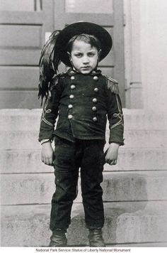 Italian boy at Ellis Island