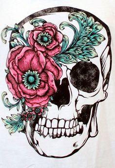 beautiful skull tattoos for women - Recherche Google