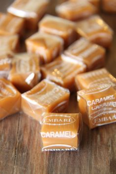 caramel, candy, and sweet image Penny Candy, Caramel Color, Caramel Candy, Caramel Apples, Caramel Brown, Colorful Candy, Candy Store, Marshmallows, Toffee