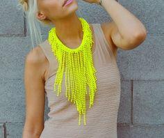 Neon statement necklaces.