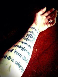 The gayatri mantra tattooed on my left forearm:)