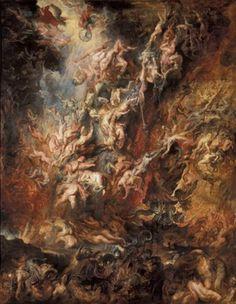 Der Höllensturz der Verdammten von Peter Paul Rubens (c. 1621), Alte Pinakothek, Munich