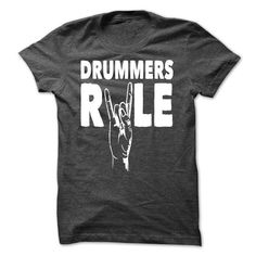 Drummers Rule - #gift for mom #gift packaging. WANT => https://www.sunfrog.com/Music/Drummers-Rule.html?68278