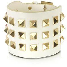 Valentino Garavani Pop Rockstud Leather Double Bracelet ($345) ❤ liked on Polyvore