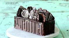 Your sweet and savory fantasies collide in this rich chocolate loaf cake topped with chocolate coated potato chips.