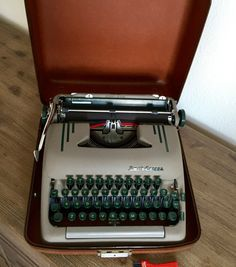 A personal favorite from my Etsy shop https://www.etsy.com/listing/512066669/vintage-typewriter-smith-corona-silent