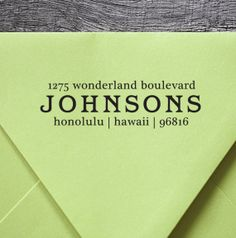 Custom Rubber Address Stamp Eco Mount  housewarming gift by foryoo, $19.95